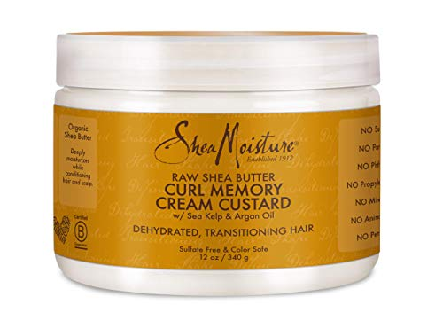 - Shea Moisture Raw Butter Curl Memory Custard Cream for Unisex, 12 Ounce