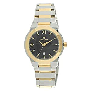 Spectrum Women's Two Tone Dial Stainless Steel Dress Watch - S12518L-TBkT