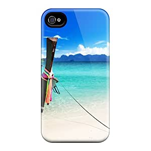 Premium [PDIWM48367sWOLn]boat Beach Case For Iphone 4/4s- Eco-friendly Packaging