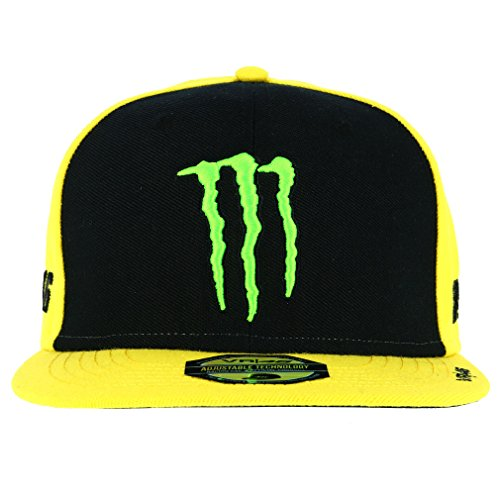 Valentino Rossi VR46 Moto GP Monster Energy Sponsor Flat Peak Cap Official 2018 by Valentino Rossi