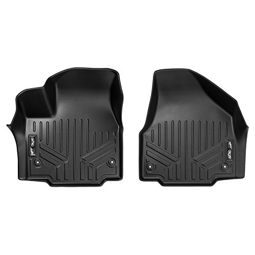 Chrysler Pacifica Floor - SMARTLINER Floor Mats 1st Row Liner Set Black for 2017-2018 Chrysler Pacifica (Fits All Models)