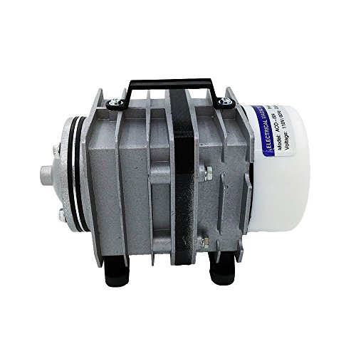 55W Aqua Commercial Air Pump, 8 Outlets, 60 L/min, 110V/50Hz, Air Compressor Pond Compressor For Aquarium, Fish Compost Tea, Koi Pond or Hydroponic Plants (55w Cylinder)
