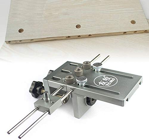3 in 1 Adjustable Drilling Jig, 6/8/10 mm Drilling Aid Dowel Gauge Drilling Template Guide Kit, Two Clamping Methods for Precise and Convenient Punching
