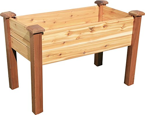 Gronomics EGBD 24-48  Elevated Garden Bed, 24 X 48 X 30 Inch, 8 Inch Deep by Gronomics