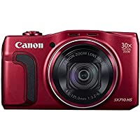 Canon PowerShot SX710 20.3MP 30x Optical Zoom Lens HS Digital Camera (RED) (CERTIF1ED REFURBISHED)