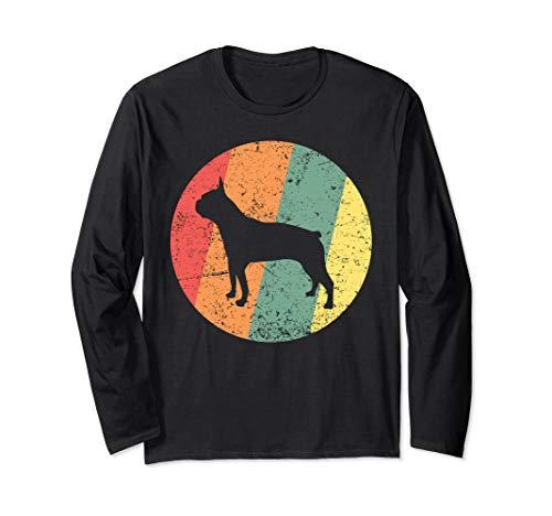 Boston Terrier TShirt Vintage Boston Terrier Lover  Long Sleeve T-Shirt