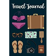 """Travel Journal: Travel Icons Journal, Notebook, Diary, 6""""x9"""", 150 Pages"""