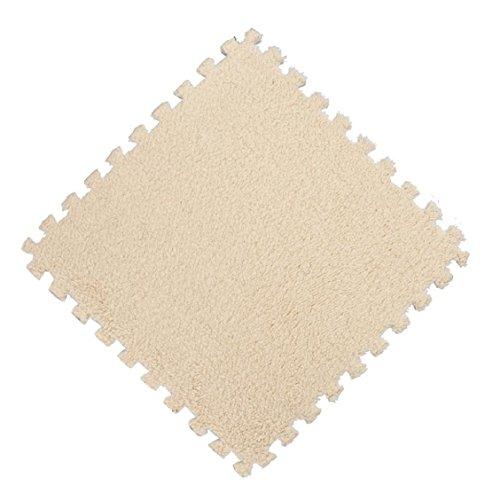 Naladoo 25X25cm Kids Carpet Foam Puzzle Mat EVA Shaggy Velvet Baby Eco Floor 7 Colors (G) - Sweeper Shop Floor Machines