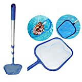 Leaf Skimmer Net with Aluminum Extension Rod Swimming Pool Tool Gessppo (A)