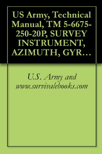 US Army, Technical Manual, TM 5-6675-250-20P, SURVEY