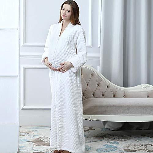Unisex Albornoz Gruesa De Franela Bata Pañuelo Pijamas 1pcs Cabeza White dxHxR