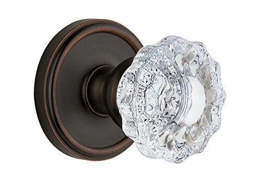 Dummy Rosette Double Georgetown (Grandeur Georgetown Rosette with Versailles Crystal Knob, Double Dummy, Timeless Bronze)