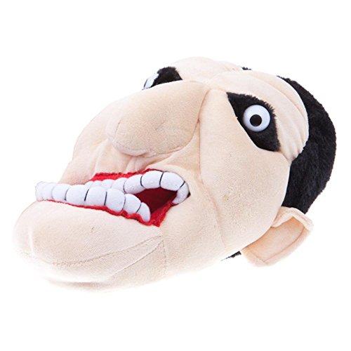 Chaussons visage amusant en peluche vampire dracula doublure textile chaude