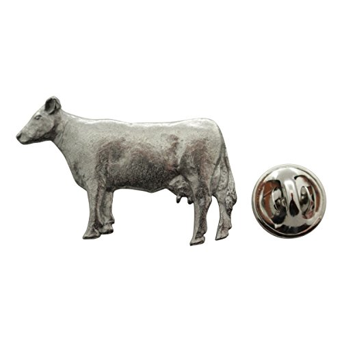 Sarah's Treats & Treasures Cow Pin ~ Antiqued Pewter ~ Lapel Pin