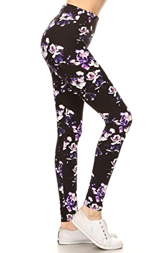 LYX-R883 Faerie's Touch Printed Yoga Leggings, Plus Size ()