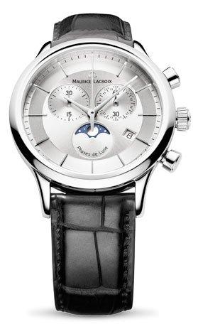 Maurice Lacroix Men's LC1148-SS001131 Les Classiqu Silver Chronograph Dial Watch