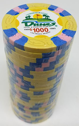 (Poker Chips - (25) $1000 Dunes Commemorative 9 gram Clay)