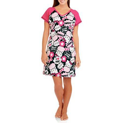 Hello Kitty V-Neck Women's Dorm Sleep Shirt Nightshirt (2X/3X 20W-24W)) (Chip And Dale Costumes)