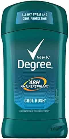Degree Men Original Protection Antiperspirant Deodorant, Cool Rush, 2.7 oz, Pack of 6, (Packaging may vary)