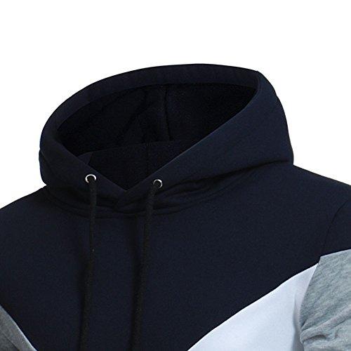 Maglietta Maglione Pullover Con Camicia Caldo Felpe Sportivo Classico Giacca Da Tops Uomo Cappuccio Manica Invernale Homebaby Nero Maglia Lunga OCzq8w8