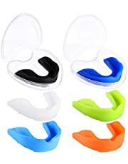 6 Pieces Sports Mouth Guard for Kids, Athletic Mouthguard for Boxing Football Hockey Karate Basketball (Assorted Color)
