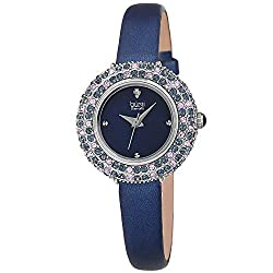 Genuine Diamond Marker Swarovski Colored Crystal Watch