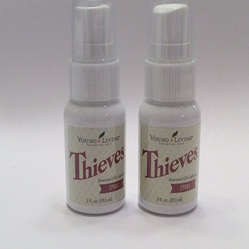 Thieves Spray 2 pack of 1 fl oz bottles by Young Living Essential Oils