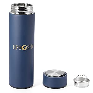 EFOSHM insulated water bottle Flask Thermos Stainless Steel Thermos Water Bottle Travel Mug with Removable Tea Strainer