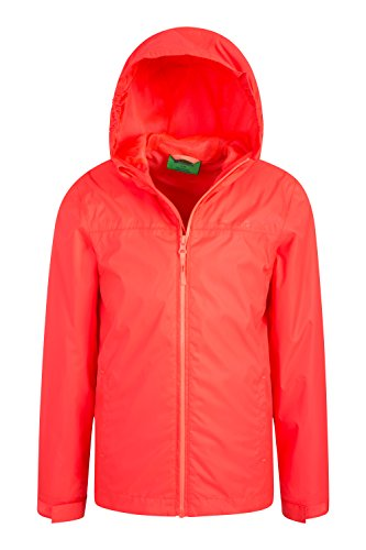 Coral Ideal Pockets Warehouse Travelling Rain Mountain Jacket Adjustable Coat Taped Seams Coat Jacket Summer for Waterproof Childrens Torrent Summer Kids Features Zipped 1qwwdgxTv
