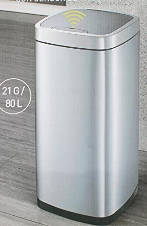 Sensible Eco Living Motion Sensor Trash Can Co Sams Club Eko New 13 Gallon Touch Automatic Stainless Steel