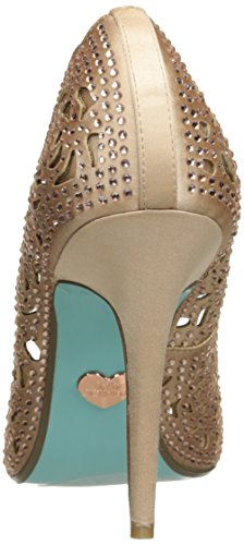 Blue Av Betsey Johnson Womens Sb-elsa Kjole Pumpe Rødme Satin