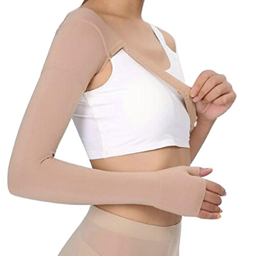 CARESHINE Post Mastectomy Compression Sleeve, Anti Swelling Support Edema Swelling Lymphedema, 30~40 mmHg (Right, M)
