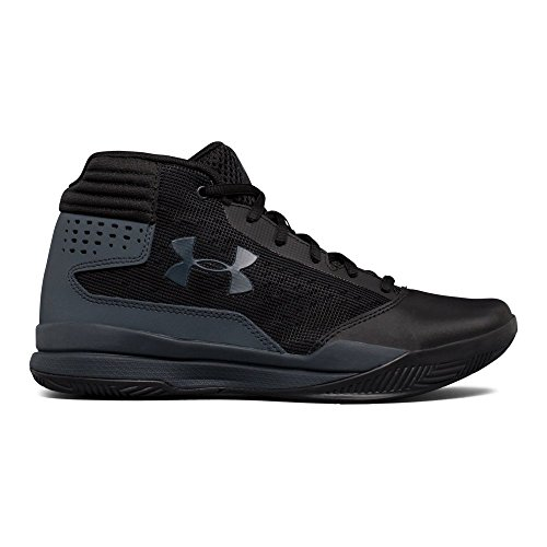 Under Armour Boys' Grade School Jet 2017 Basketball Shoe, Black (001)/Rhino Gray, 4 by Under Armour