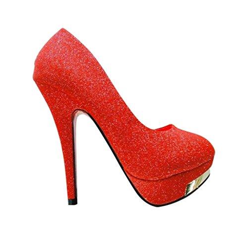 High Bling Women Platform Metal Head Red Heels Optimal w1Xvq4cf