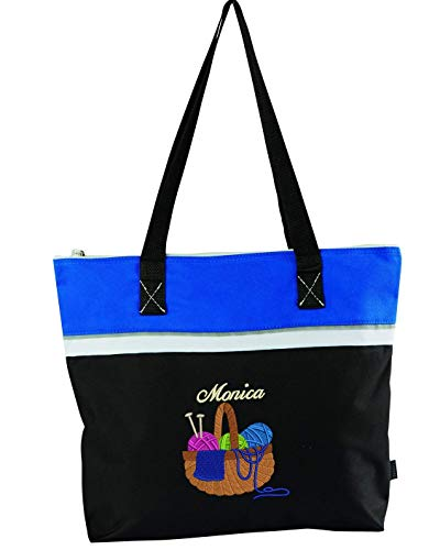 Yarn in Basket Embroidered Personalized Small Crafting Tote from Simply Custom Life