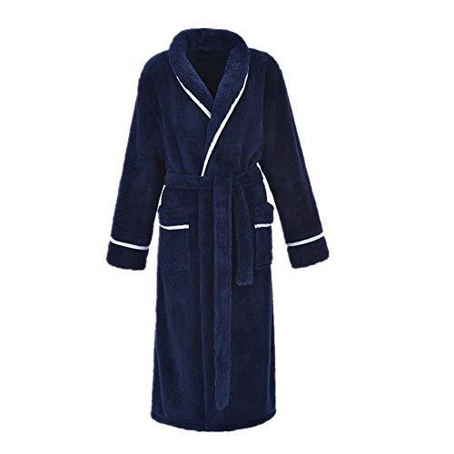 color Male Larga Camisón Baño Pijamas Franela m De Blue Cálido Gran Huifang Tamaño Albornoz Invierno S Male Engrosamiento Par Bata p6wHnIqnf