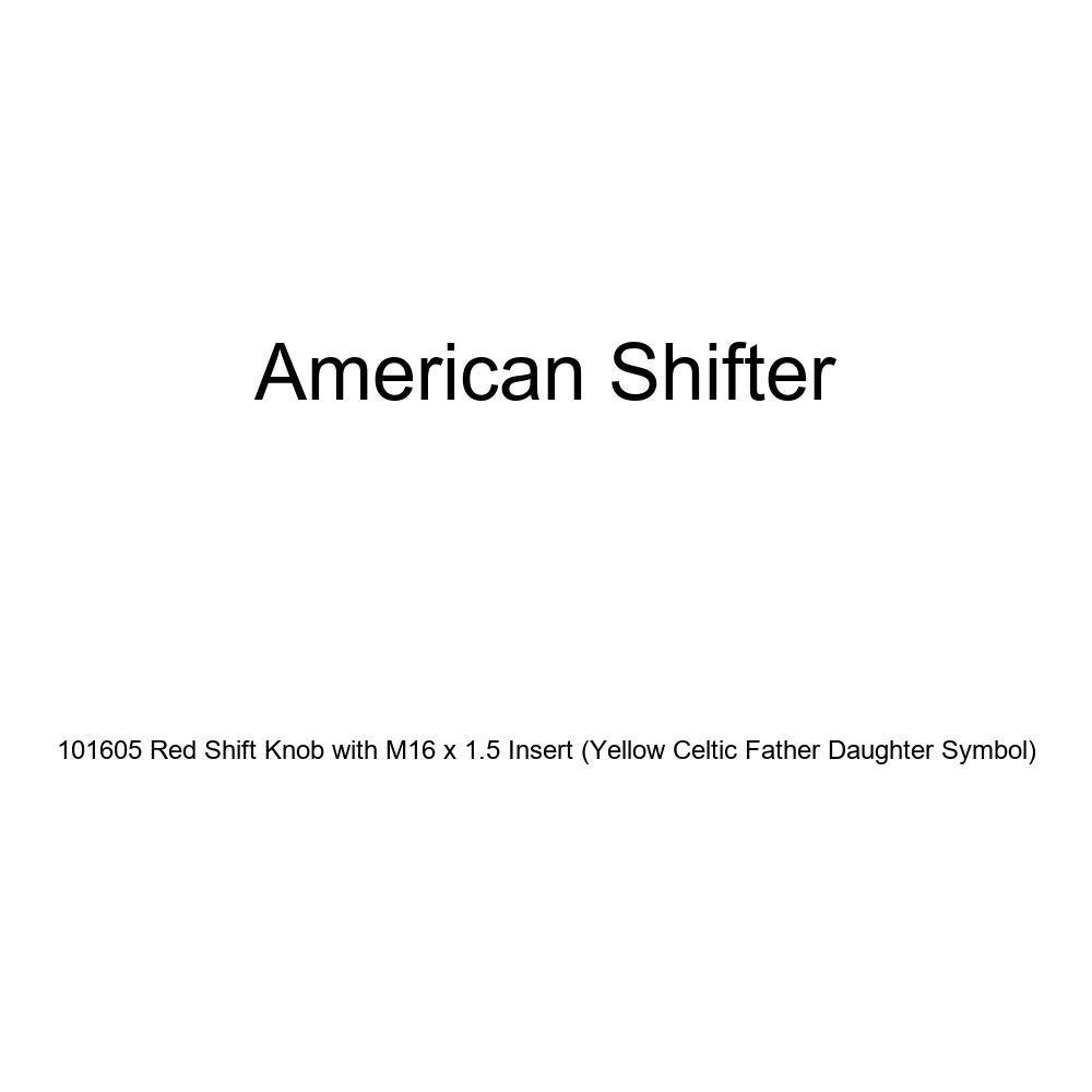 Yellow Celtic Father Daughter Symbol American Shifter 101605 Red Shift Knob with M16 x 1.5 Insert