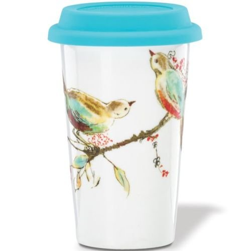 Lenox Double Wall Ceramic Chirp Thermal Travel Mug 12 - Travel Thermal Mug Double Wall