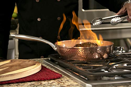 Gotham Steel Hammered Copper Collection – 15 Piece Premium Cookware & Bakeware Set with Nonstick Coating, Aluminum… 5