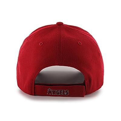 MLB Los Angeles Angels Juke MVP Adjustable Hat, One Size, Red