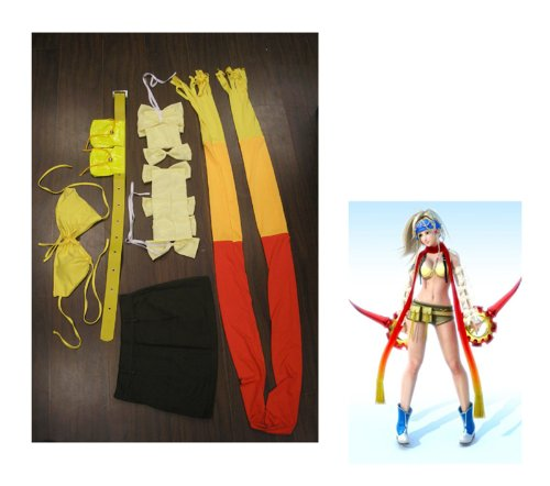 Fantasycart COMPLETE Rikku Costume Cosplay from Final Fantasy X2 SZIE XXL