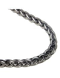 Titanium 7MM Wheat Chain Link Necklace