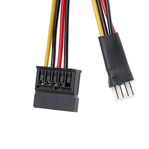 Gimax 1Pc 4-Pin FDD Floppy Male To 15-Pin SATA Female Converter Adapter Power Cable Cord 23cm for Computer Connector