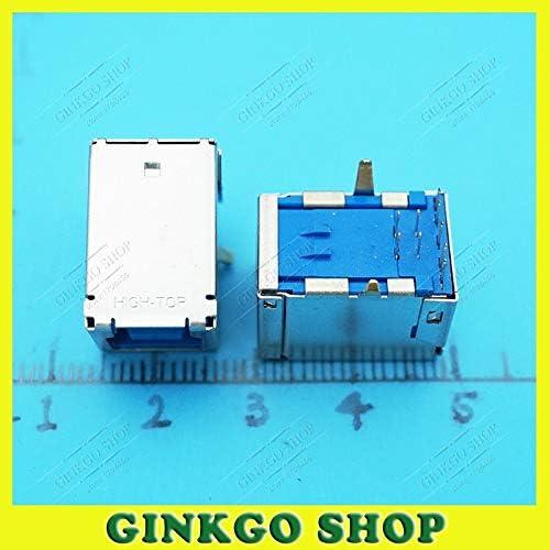 Gimax 10pcs//lot B Type USB Jack 3.0 USB 9Pins 90 Degree for Printer