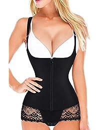 b1456385c02f7 Women Latex Waist Trainer Bodysuit Tummy Slim Body Shaper Open Bust Girdle  Shapewear