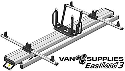 VAN SUPPLIES EasiLoad 3 - Escalera Doble para Furgoneta (2,4 m, Sistema de Carga asistida, para Uso con Barras de Techo de Furgoneta EasiBar): Amazon.es: Coche y moto