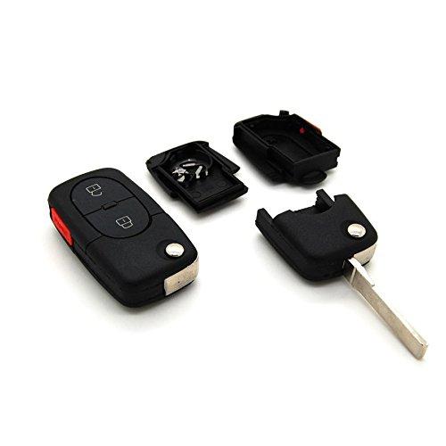 Carcasa para llave con telemando de 2 botones, para Audi A1, A3, A4, A5, A6, A8, TT, Q7
