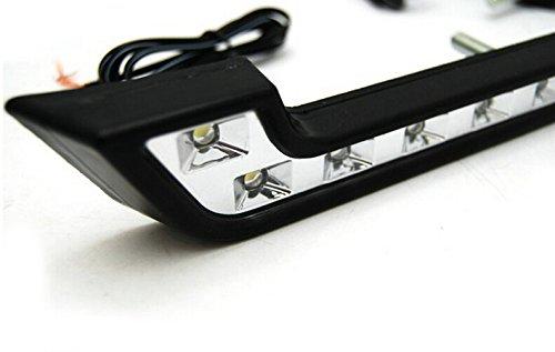 Li-start 2pcs 6 LED High Power Car Day Running Light DRL Fog Aux White Lamp