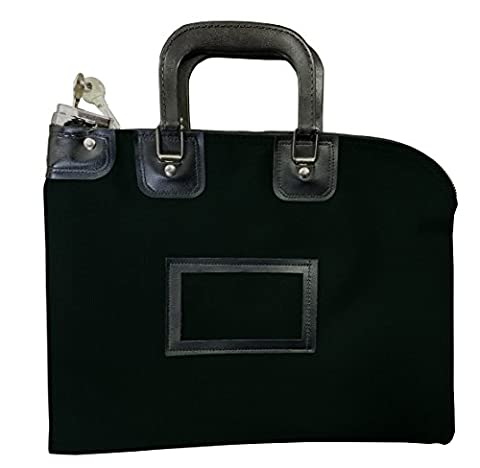 Fire Resistant Locking Security Bag (Black) - Locking Security Bags