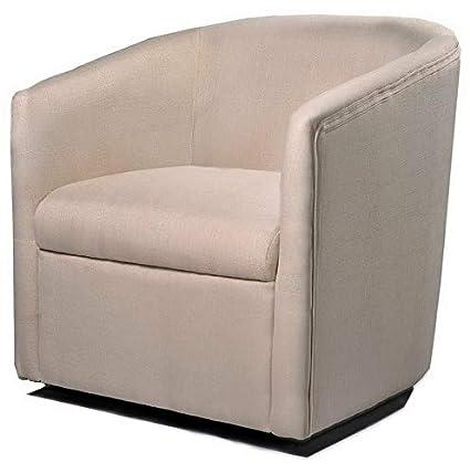 Amazon.com: Hebel Madge Barrel Back Swivel Accent Chair ...